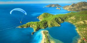 Олюдениз. Одно из самых красивых мест Турции - пляж Голубая лагуна (рядом с курортом Фетхие)