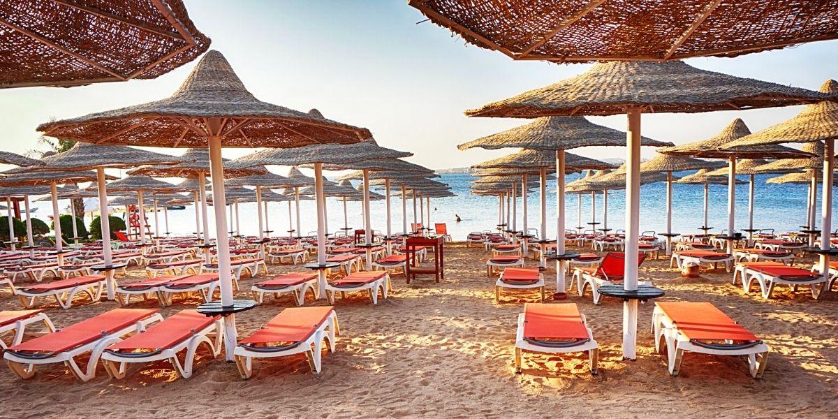 Один из египетских пляжей
